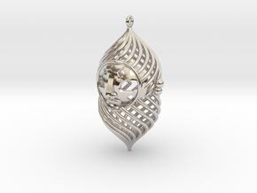 The duke pendant in Rhodium Plated Brass