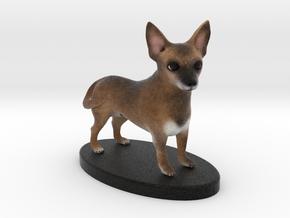 Custom Dog Figurine - Degrassi in Full Color Sandstone