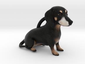 Custom Dog Ornament - Sam in Full Color Sandstone