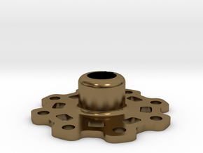 Lightweight Wheel Hub (17 mm) in Polished Bronze