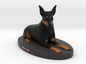 Custom Dog Figurine  - Rico in Full Color Sandstone