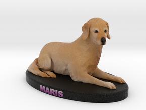 Custom dog figurine - Maris in Full Color Sandstone