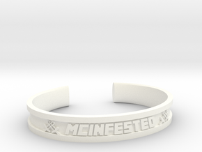 McBracelet (1.8 Inches) Minimum in White Strong & Flexible Polished