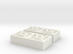 Merr Sonn Block Pair in White Natural Versatile Plastic