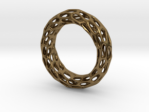 Trous Ring S 9.5 in Polished Bronze