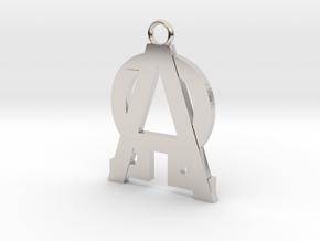 Alfa-omega  in Platinum