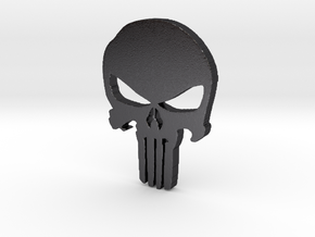Punisher Pendant 25mm  in Polished and Bronzed Black Steel
