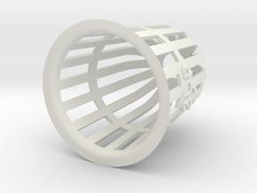 Planter (Round) - 3Dponics in White Natural Versatile Plastic