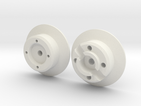 scale aircraft wheel hub in White Natural Versatile Plastic