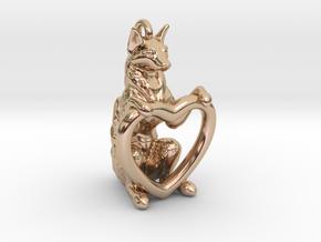 Fox Heart in 14k Rose Gold Plated Brass
