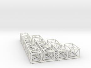 "16""sq Box Truss Sampler 1:48 in White Natural Versatile Plastic"