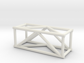 "2'6"" 12""sq Box Truss 1:48  in White Natural Versatile Plastic"