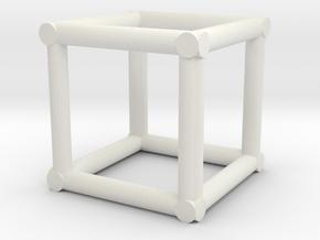 "12""sq Corner Box Truss 1:48  in White Natural Versatile Plastic"