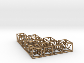 "20.5""sq Box Truss Sampler 1:48 in Natural Brass"