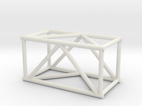 "2'6"" 16""sq Box Truss 1:48 in White Natural Versatile Plastic"