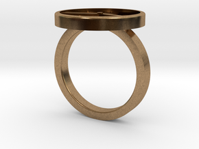 Watch Ring in Natural Brass