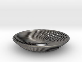 0164 Torus of Doubly Twisted Strips (n=32,d=15mm) in Polished Nickel Steel