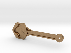 Gopro Screw Knob Wrench W/ KeyChain Loop in Natural Brass