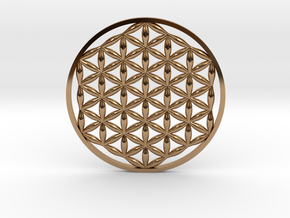 Flower Of Life (no bale)  in Polished Brass