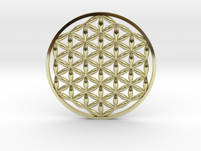 Flower Of Life (no bale)  in 18k Gold Plated Brass