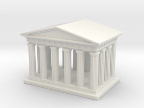 Mini Greek Temple in White Strong & Flexible