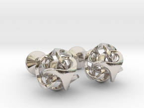 Ora by Bathsheba Cufflinks in Platinum