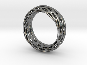 Trous Ring Size 7.5 in Fine Detail Polished Silver