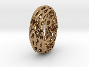 Trous Ring in Polished Brass