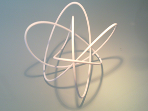 Lissajous (4, 3, 5) (0, π/2, 0) in Metallic Plastic