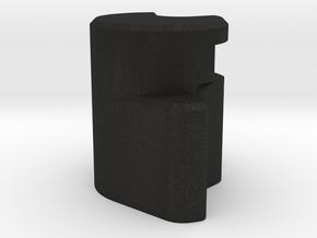 Left Bearing Holder in Black Acrylic