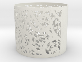 Lamp Shade Flora Design in White Natural Versatile Plastic