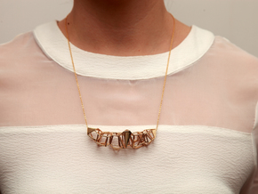 Voronoi Pendent in 14k Gold Plated Brass