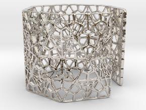 Modenitef Bracelet / Cuff in Rhodium Plated Brass