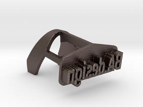 """Bic lighter burner - """"BA.design"""" in Polished Bronzed Silver Steel"""