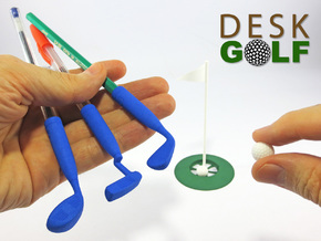 Desk Golf (COMPLETE SET) in White Processed Versatile Plastic