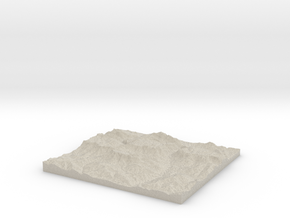 Model of Rettenbachalm in Sandstone