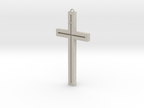 Modern Cross in Natural Sandstone
