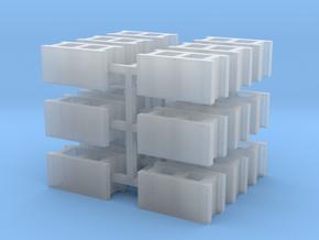 Cinder Block 15mm (18) in Smooth Fine Detail Plastic