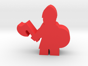 Game Piece, Viking Warrior, With Axe in Red Processed Versatile Plastic