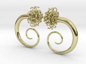 Plugs  /gauge The Gorgon / size 2G (6.5 mm) in 18k Gold Plated Brass