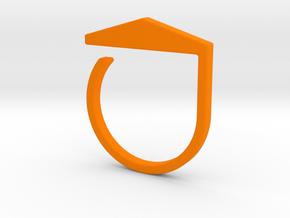 Adjustable ring. Basic model 3. in Orange Processed Versatile Plastic