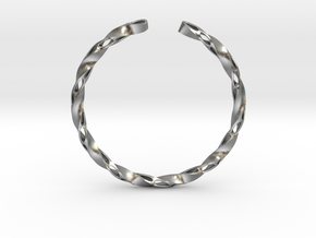Twisted Pierced Bangle No.1 in Natural Silver