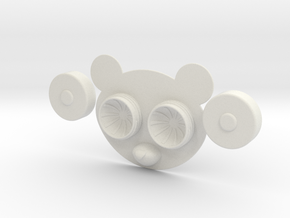 Panda Contact Lens Case in White Natural Versatile Plastic