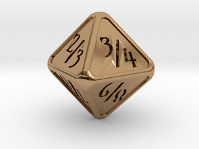 'Simple' D8 Tarmogoyf P/T balanced die in Polished Brass