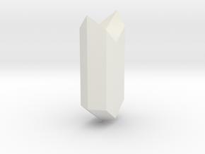 Gypsum 023 in White Natural Versatile Plastic