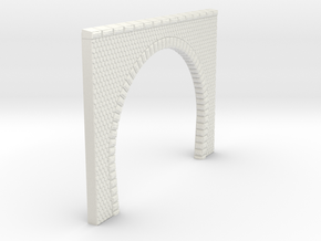 NT12 Tunnel portal for double track in White Natural Versatile Plastic