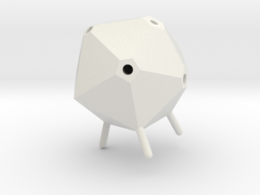 Icosahedron Pen Holder(small) in White Natural Versatile Plastic