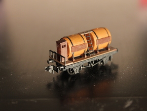 n-scale wine wagon in Smooth Fine Detail Plastic