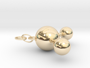 Water(ver. Ring) in 14k Gold Plated Brass