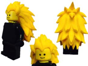 Custom Vegeta SSj3 Inspired Lego in White Strong & Flexible